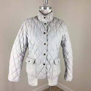 Eddie Bauer EB550 Gray Down Quilted Jacket M P